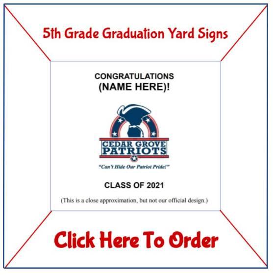 Order 5th-Grade Graudation Yard Signs