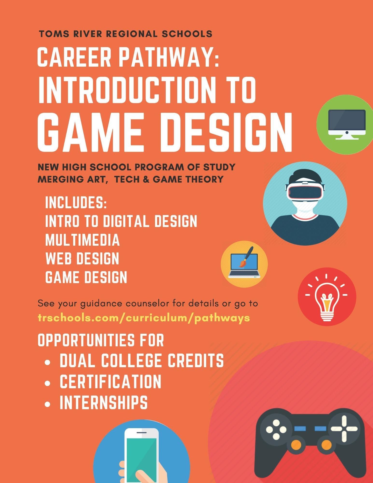 game design flyer