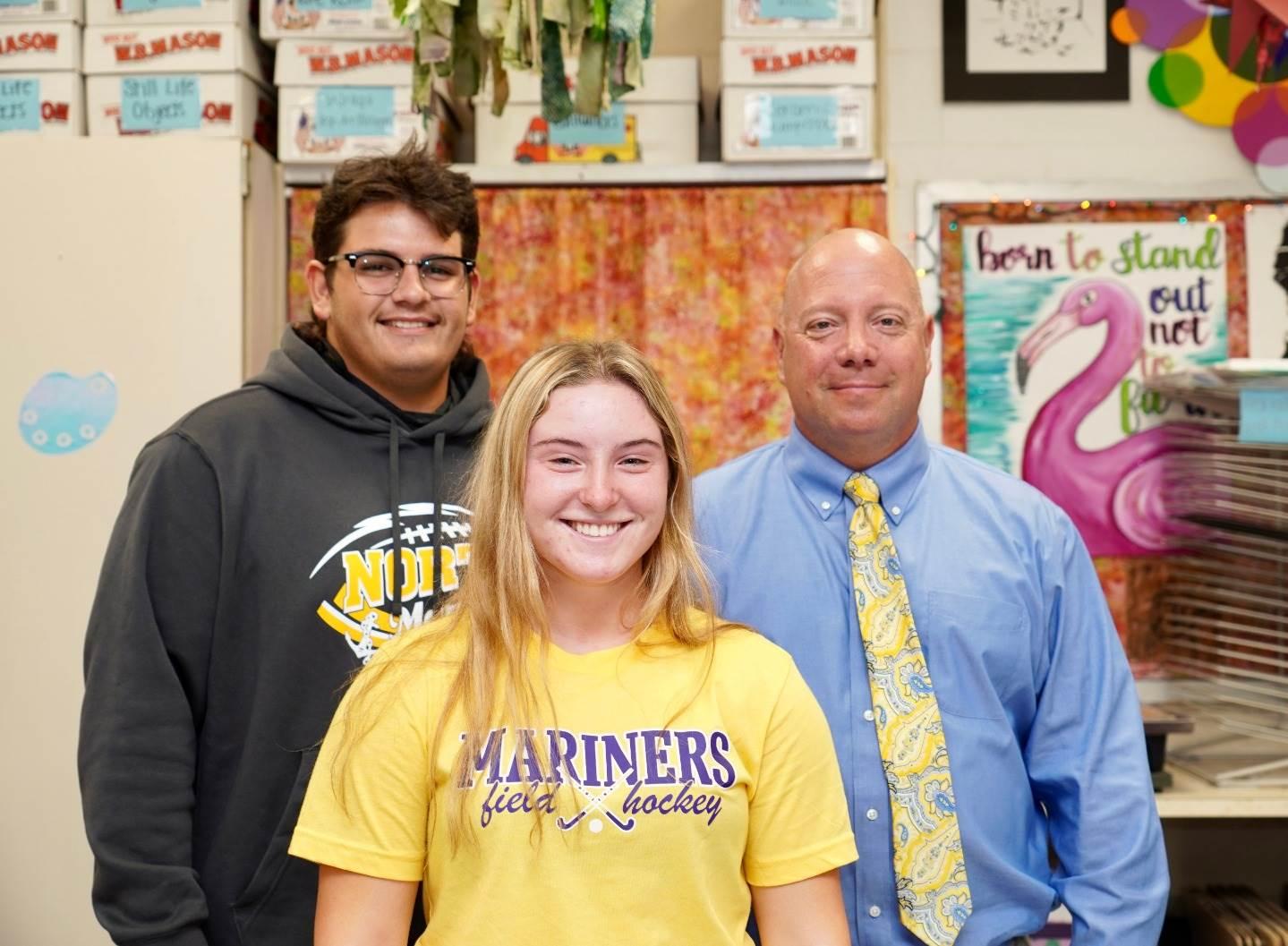 students and principal