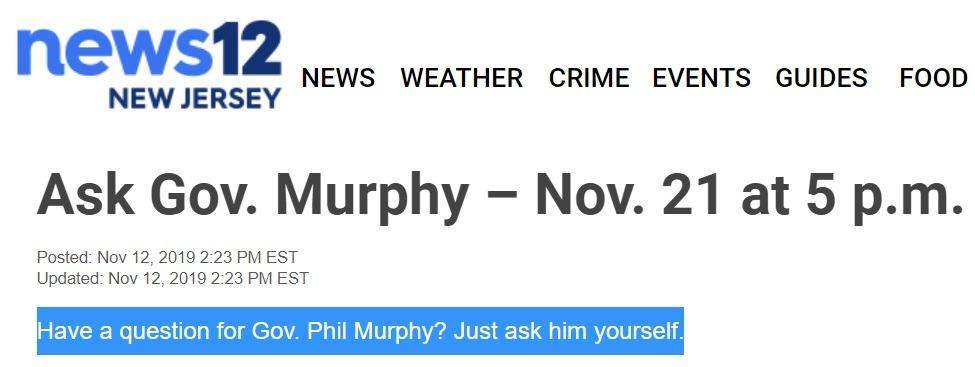 Ask Gov Murphy