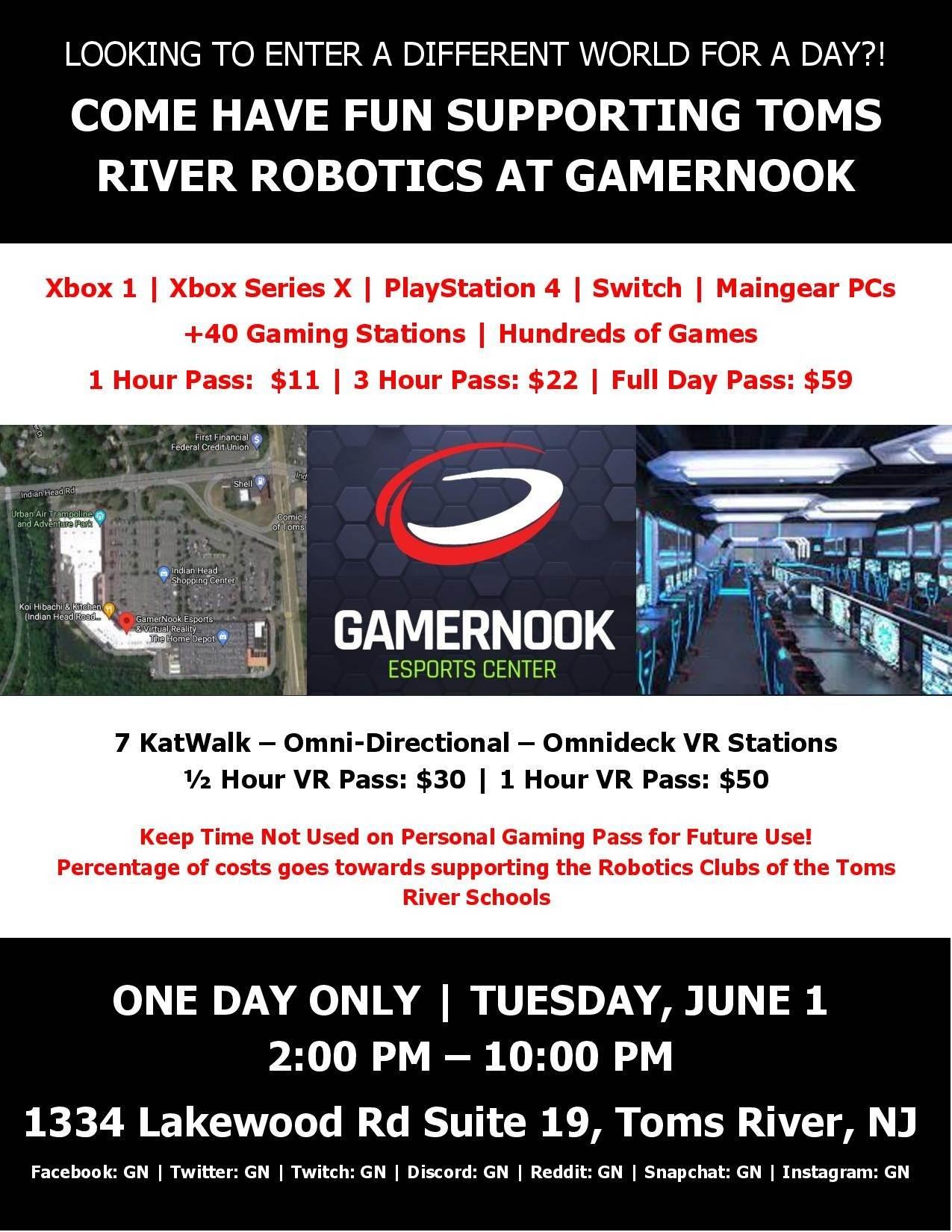 Gamernook fundraiser