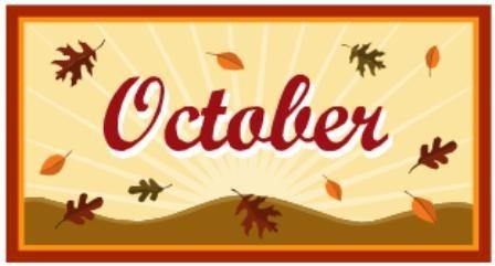 October Intermediate Lunch Menu