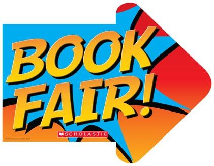right arrow with book fair words