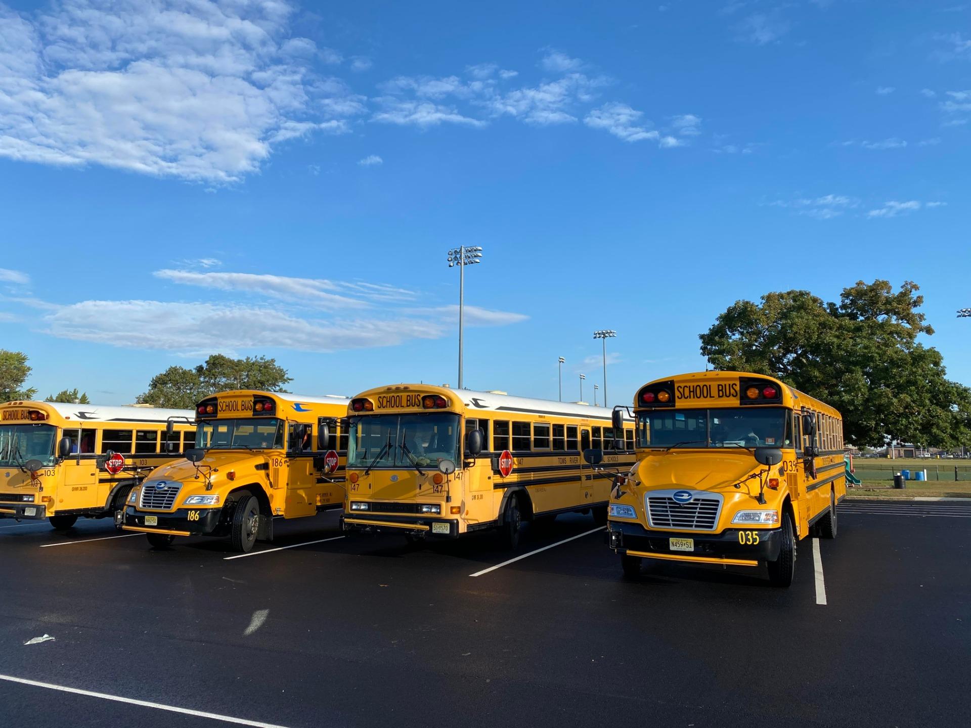 buses and sky