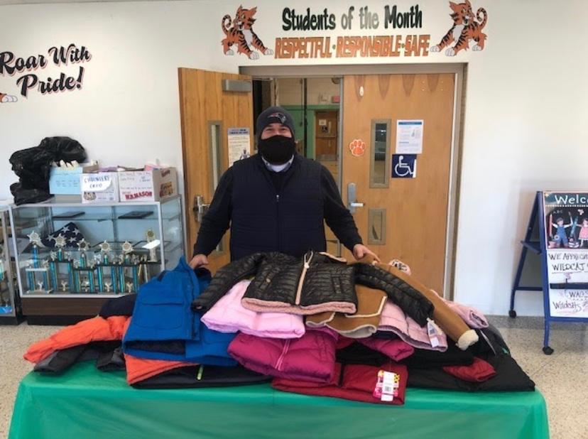 Teacher and coats