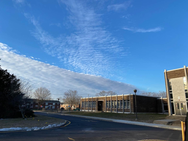 side of school building
